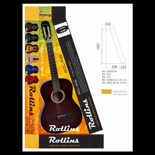 ROLLINS GUITAR PAKAGING DESING